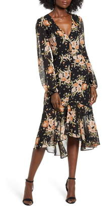 Leith Button Front Midi Dress