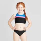 Speedo Girls' 2pc Linear Logo Bikini Sets -
