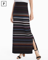 White House Black Market Petite Stripe Knit Convertible Maxi Skirt