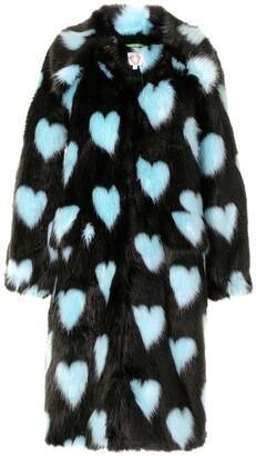 Shrimps Lorca heart-print coat