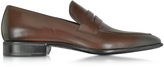 Moreschi Liegi Dark Brown Buffalo Leather Loafer w/Rubber Sole