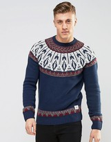 Bellfield Reverse Jacquard Knitted Sweater