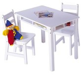 Lipper 534W Child's Rectangular Table and 2-Chair Set