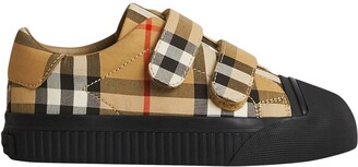 BURBERRY KIDS Vintage Check touch-strap sneakers