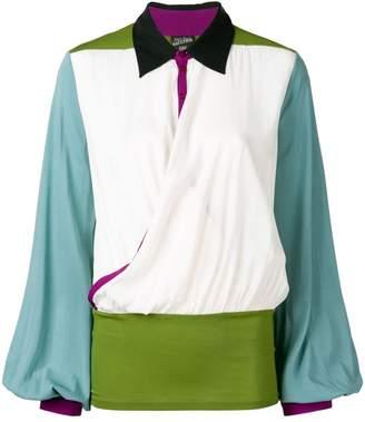 Jean Paul Gaultier Pre-Owned 1990's block colour blouse