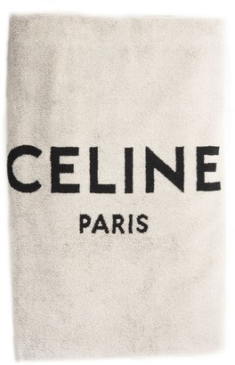 Celine Logo Beach Towel
