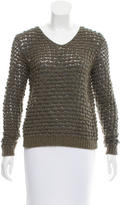 Theyskens' Theory Open Knit Wool Sweater