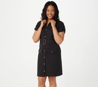 Du Jour Petite Button Front Boiler Suit Dress