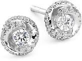 JCPenney FINE JEWELRY 1/4 CT. T.W. Diamond 10K White Gold Swirl Stud Earrings