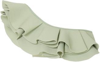 Johanna Ortiz Watercolor Ruffled One-Shoulder Bikini Top