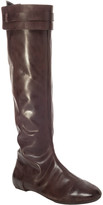 Max Studio Draping - Burnished Leather Tall Boots