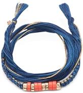 Aurelie Bidermann Takayama Coral Stones and Denim Brut Thread Bracelet