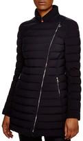 Moncler Anastasia Asymmetric Long Down Coat