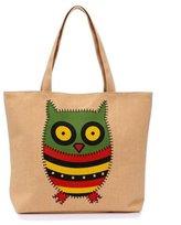 Zrong Women's Cartoon Animal Owl Handbag Tote Shopper Carrier Shopping Bag