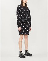 McQ Bird-print cotton-jersey mini dress