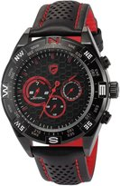 Shark Men's SH420 Shortfin Analog Quartz Day Date Leather Band Wrist Watch