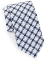 Black Brown 1826 Checked Cotton Tie