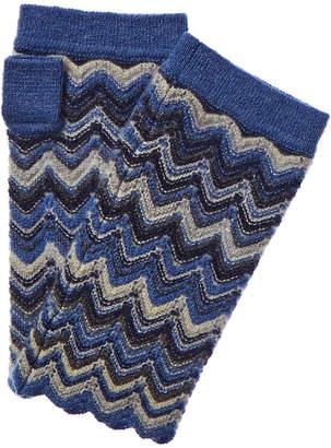 Forte Cashmere Zig Zag Cashmere Texting Glove