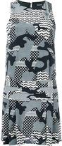 Neil Barrett camouflage print dress - women - Silk/Spandex/Elastane/Cupro - 40