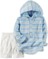 Carter's 2-Pc. Cotton Striped Hoodie & Shorts Set, Toddler Boys (2T-4T)