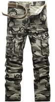 Come On Comeon Men's Wild Cargo Pants Outdoor Woodland Camouflage Cotton Cargo Military Pants (grey camouflage,32)