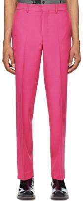 Ami Alexandre Mattiussi Pink Wool Straight-Leg Trousers
