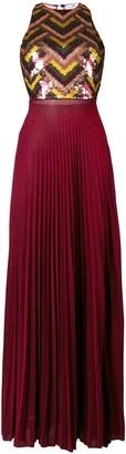 Elisabetta Franchi Embellished Pleated Dress