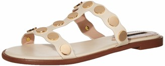 Kensie Womens Flat with Hardware Slide Sandal