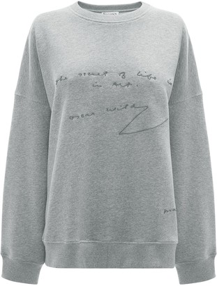 J.W.Anderson Oscar Wilde quote print sweatshirt