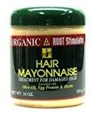Organic Root Stimulator Hair Mayonnaise Treat 16 oz. (3-Pack) with Free Nail File