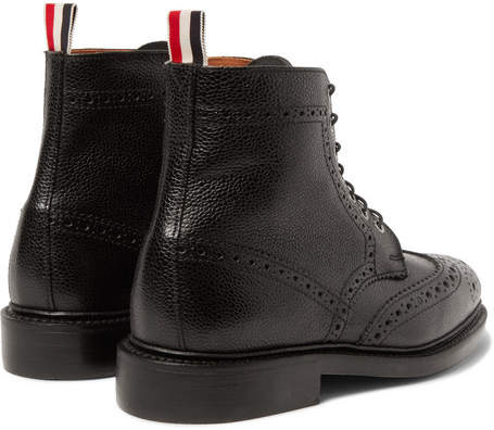 Thom Browne Leather Wingtip Brogue Boots
