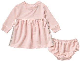 Splendid Metallic Roller Striped Dress & Bloomer Set (Baby Girls)
