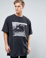 Cheap Monday Emphasis Broken T-Shirt Flash Eye Print