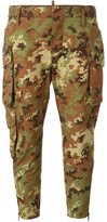 DSQUARED2 cropped camouflage trousers - women - Cotton/Polyamide - 40