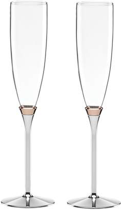 Kate Spade Rosy Glow Toasting Flute Pair