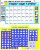 Paper Magic 480630 Eureka Learning Playground, Weather Calendar Sticker Activity Kit, 11 by 17-Inches