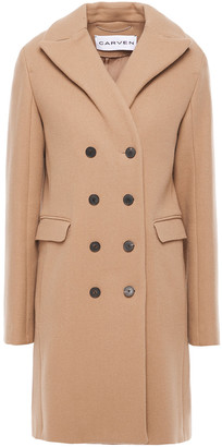 Carven Double-breasted Wool-blend Felt Coat