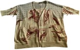 Antik Batik Beige Cotton Knitwear for Women