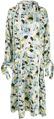 Kenzo Floral Print Hooded Dress