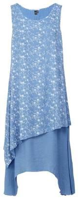Dorothy Perkins Womens *Izabel London Blue Floral Print Layered Hem Shift Dress, Blue