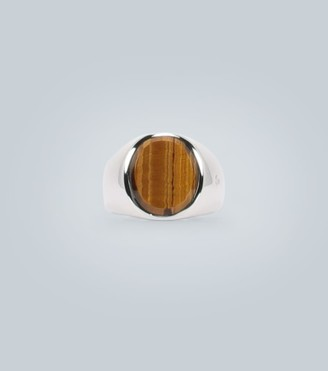 Tom Wood Oval tiger eye and silver ring