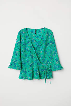 H&M V-neck wrapover blouse