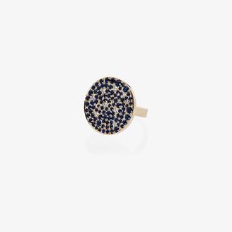 Dru 14K yellow gold Galaxy diamond and sapphire ring