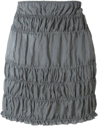 Romeo Gigli Pre Owned ruched mini skirt