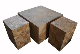 Ctr Imports Block Coffee And Side Table Set/2