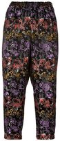 Comme des Garcons flower print tapered cropped trousers