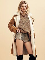 Free People Wild Snake Leather Short