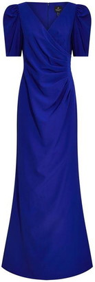 Adrianna Papell Elbow Sleeve Long Gown