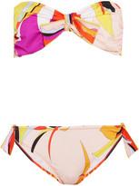 Emilio Pucci Fiore Maya Printed Bandeau Bikini - Pink