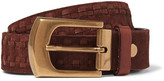 Brunello Cucinelli - 4cm Brown Leather-trimmed Suede Belt